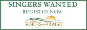 Singers wanted to perform in JW Pepper's Voices of Praise concert. Register now.
